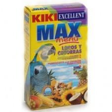 Kiki max menú loros y cotorras