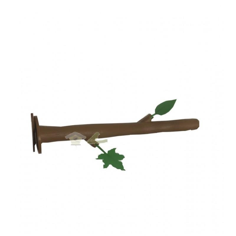 Palo plastico rama arbol con hojas