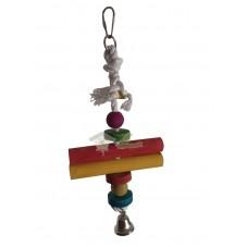 juguete cuerda madera con campana